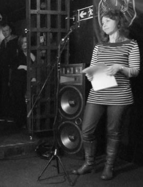 Cat Dean taking part in This Collection's 2011 Poetry Slam
